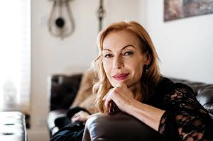 Ute Lemper in her Manhattan apartment