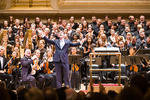 Composer Julian Darius Revie at the premiere of Mass of the Divine Shepherd at Carnegie Hall