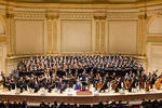 Mass of the Divine Shepherd by composer Julian Darius Revie during its premiere performance at Carnegie Hall on June 29, 2015. Stephen Layton, conductor.