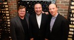 The Montrose trio in one of their favorite locations: a hidden wine cellar!