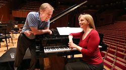 Orli Shaham with her husband David Robertson, chief conductor of Sydney Symphony Orchestra.