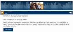 """QdC Portrait"" on WDR Radio by Birgit Nockenberg"