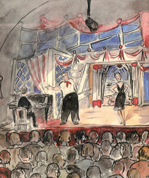 Drawing of a performance at Terezín