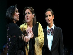 Kelley O'Connor as Federico Garcia Lorca, Dawn Upshaw as Margarita Xirgu and Jessica Rivera as Nuria.