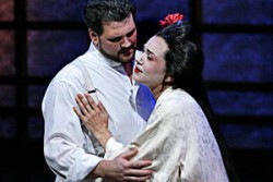 David Pomeroy is Pinkerton and Kelly Kaduce is Cio-Cio-San in Opera Theatre St. Louis' soaring Butterfly.