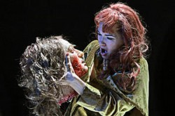 Shockingly beautiful: Kelly Kaduce as Salome, shown with the head of Jokanaan.