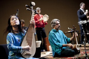 Wu Man performing with the Silk Road Ensemble at UC Davis' Mondavi Center