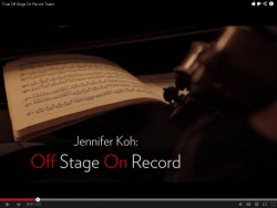 Screenshot of Jennifer Koh's new video series 'Off Stage On Record'