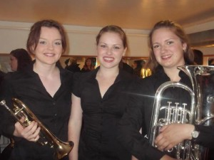In the photo L to R are Elizabeth Tonge, Georgie Evans and Hannah Labus...