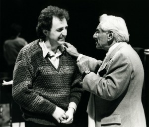 Bramwell Tovey with Leonard Bernstein in 1986
