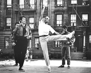 Jerome Robbins in rehearsal for West Side Story (1960.)
