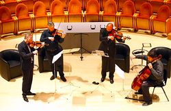First performance, Beethoven op.132, with the Paganini Quartet at the Museo del Violino in Cremona