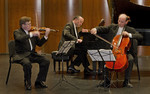 The Montrose Trio in their debut performance for the Chamber Music Society of Detroit.