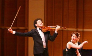 Paul Huang making his New York debut at Merkin Concert Hall, accompanied by Jessica Osborne