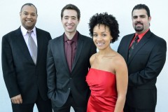 The Harlem Quartet: Ilmar Gavilán, Matthew Zalkind, Melissa White, and Jaime Amador.