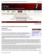 CVNC: An Online Arts Journal in North Carolina