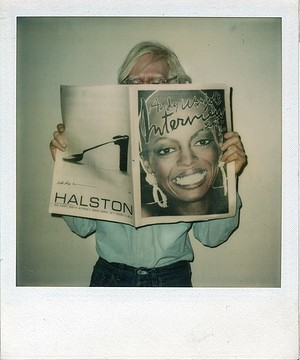 Andy Warhol reading Interview Magazine
