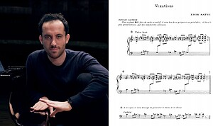 Left: Pianist and 2018 Gilmore Artist Igor Levit; Right: Complete score of Satie's Vexations