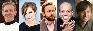 Left to right: Sun Valley Music Festival Music Director Alasdair Neale; violinist Leila Josefowicz; pianist Daniil Trifonov; pianist Orion Weiss; composer / performer Mason Bates