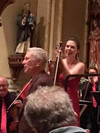 "Corigliano, with soloist Lark, addresses CityMusic Cleveland audience at October 20 performance of his ""Red Violin Concerto."""