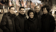 Harlem Quartet with Cuban pianist-composer Aldo Lopez-Gavilan (far right).